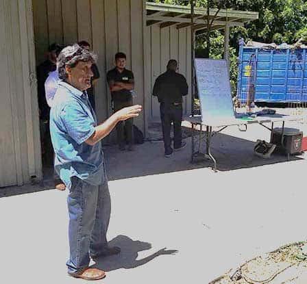 Tom speaking at Moon Prop Tour